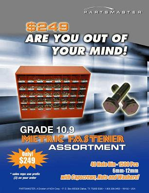 40-Hole Bin Fastener Assortment Promotion